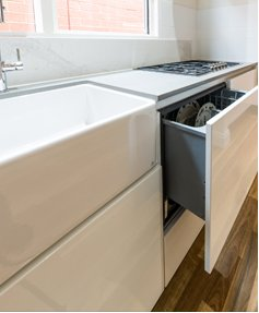 modern kitchen drawers